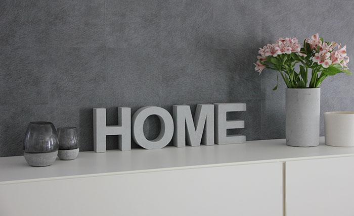 Home Deko mit Beton-Effekt ganz einfach selbst machen